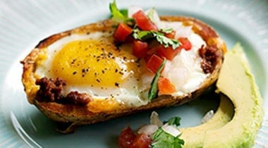 potato cup with egg