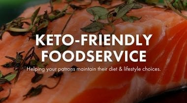 keto friendly foodservice graphic