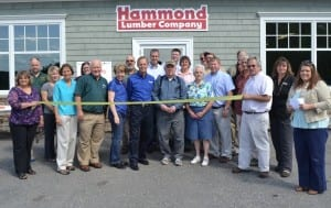 Hammond family and Hammond Lumber staff of Wilton during the stores grand opening.
