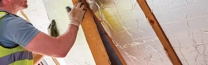 Installing Insulation in a wall