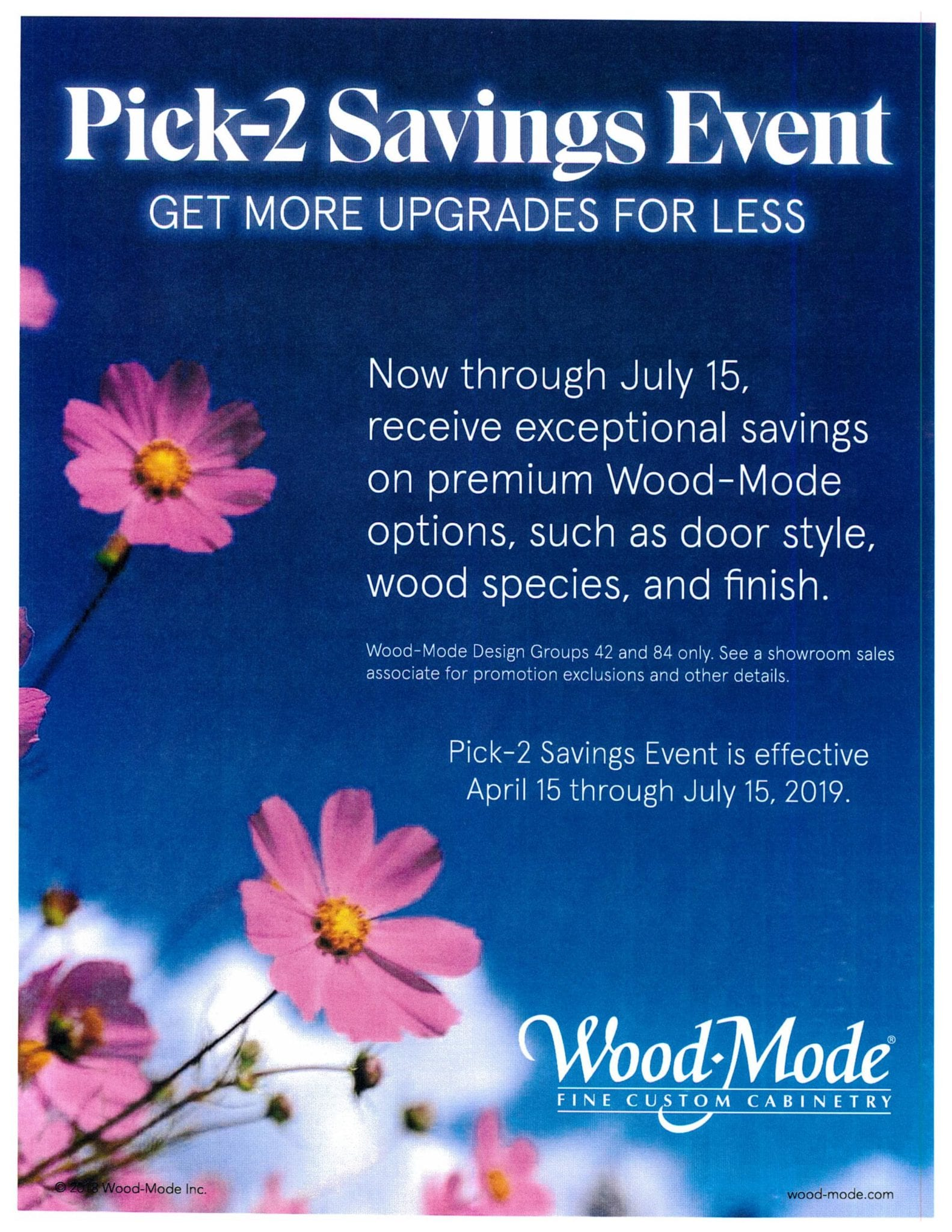 Wood-Mode Pick-2 Savings Event Hammond Lumber Company