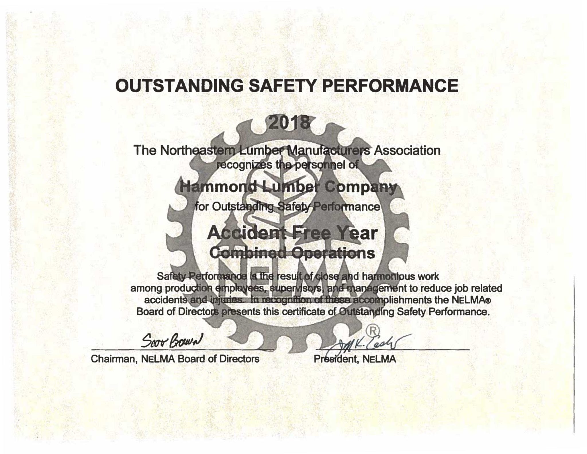 Combined Operations Award Certificate