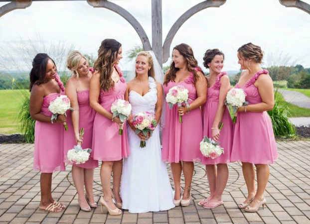photo of bride and her bridesmaids