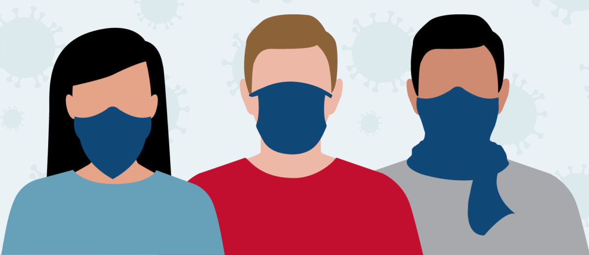 Types of face coverings graphic