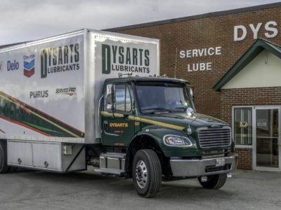photo of dysarts lubricants box truck