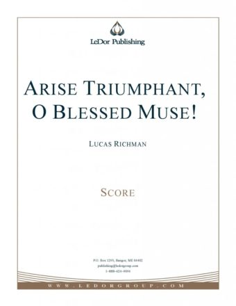 arise triumphant, o blessed muse! score cover