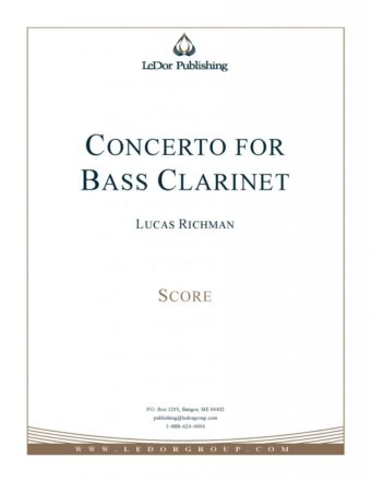 concerto for bass clarinet score cover