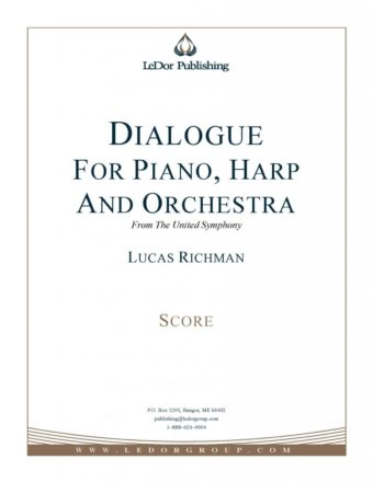 dialogue for piano, harp and orchestra from the united symphony score cover