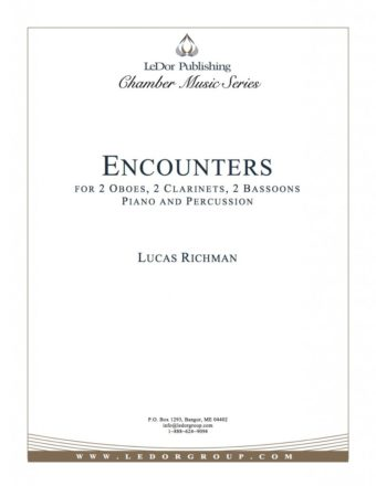 encounters for 2 oboes, 2 clarinets, 2 bassoons piano and percussion cover