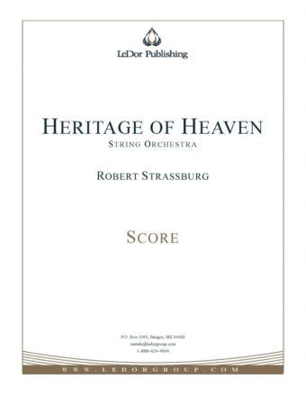 heritage of heaven string orchestra score cover