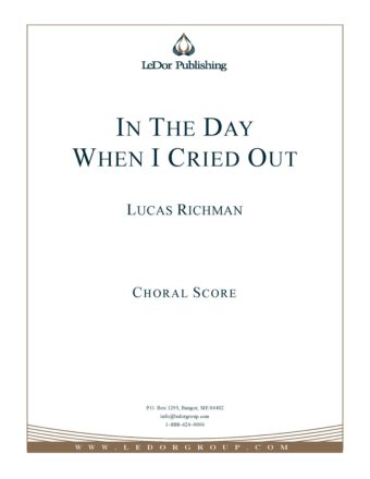 in the day when I cried out choral score cover