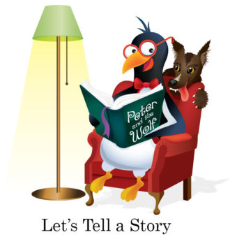 picardy penguin let's tell a story graphic