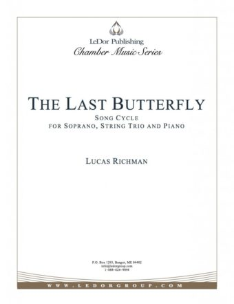 the last butterfly song cycle for soprano, string trio and piano cover