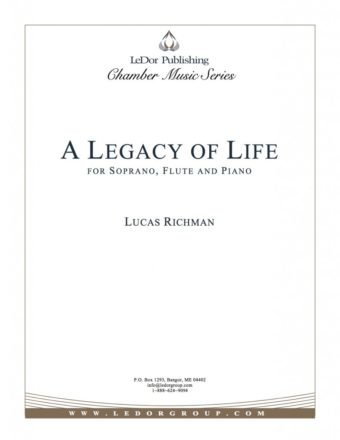 a legacy of life for soprano, flute and piano cover