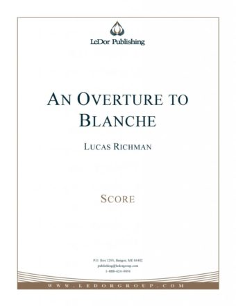 an overture to blanche score cover