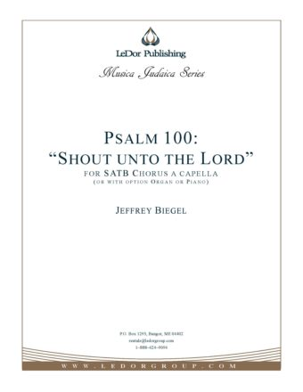 """Psalm 100 """"Shout unto the Lord"""" Score Cover"""