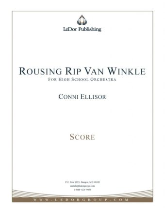 rousing rip van winkle for high school orchestra score cover