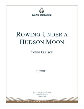 Rowing Under A Hudson Moon score cover