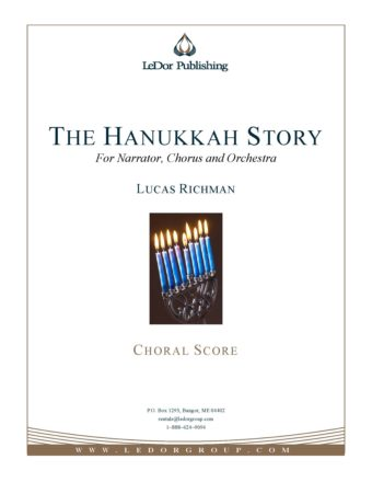 the hanukkah story for narrator, chorus and orchestra choral score cover