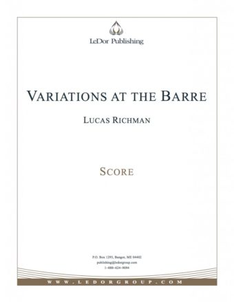 variations at the barre score cover
