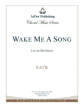 wake me a song satb cover
