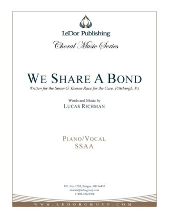 we share a bond piano/vocal ssaa cover