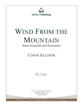 wind from the mountain brass ensemble and percussion score cover